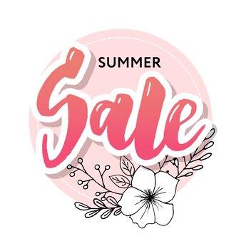 Summer sale card template