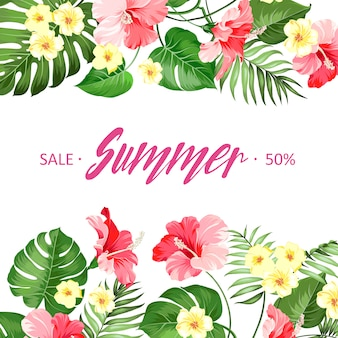 Summer sale card.
