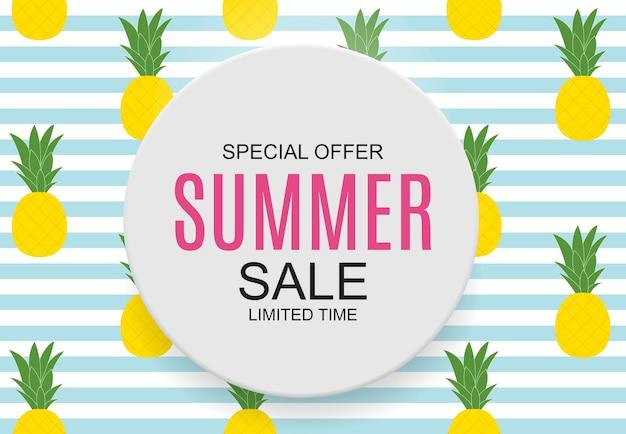 Summer sale concept background. vector illustration. eps10
