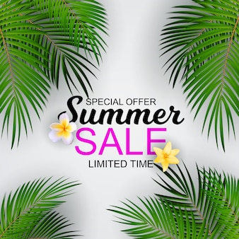 Summer sale concept background.