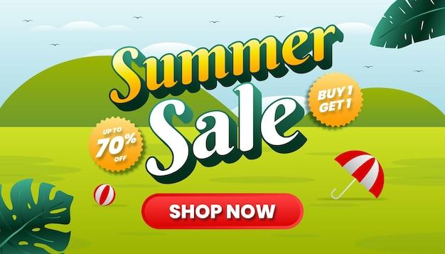 여름 판매 개념 웹 배너입니다.