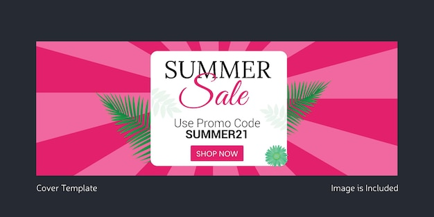 Summer sale cover page design