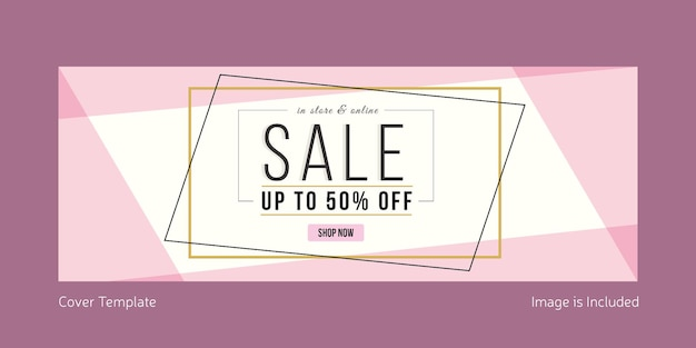 Summer sale cover page template