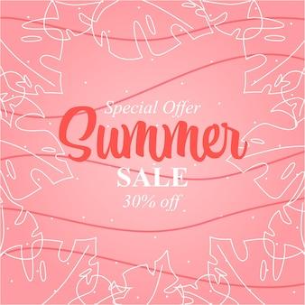 Летняя распродажа дизайн баннера летняя абстрактная иллюстрация