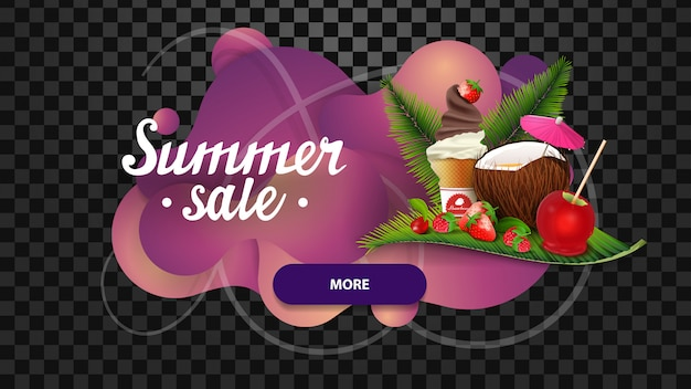 Summer sale, discount banner in the form of lava lamp