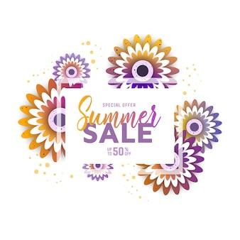 Summer sale discount voucher.