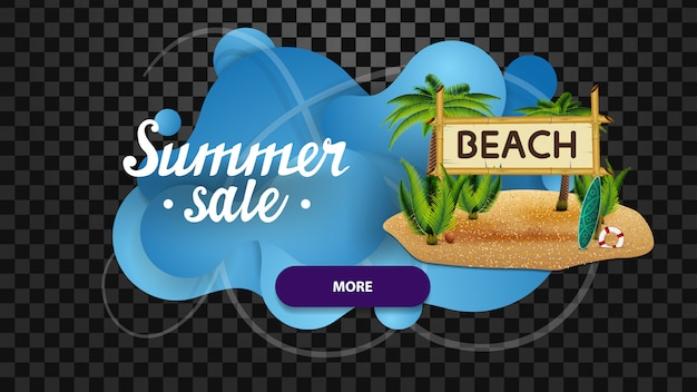 Summer sale, discount web banner in the form of lava lamp