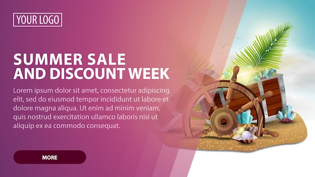 Summer sale and discount week landing page