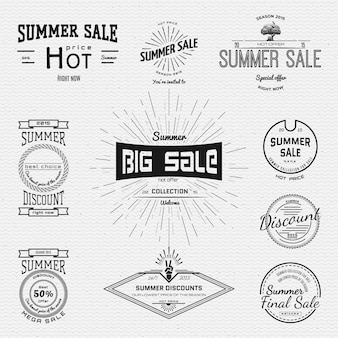 Summer sale and discounts badges