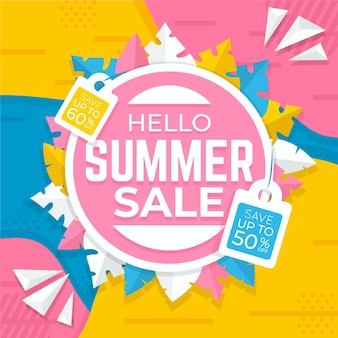 Summer sale flat design