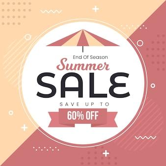 Summer sale in flat design