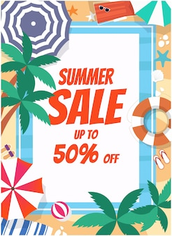 Summer sale flayer