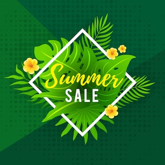 Summer sale flyer design