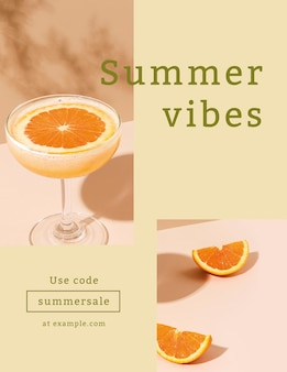 Summer sale flyer template in colorful tone