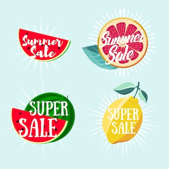 Summer sale fruit illustrations