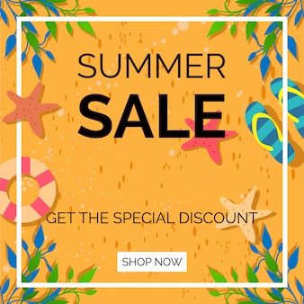 Summer sale get the special discount background