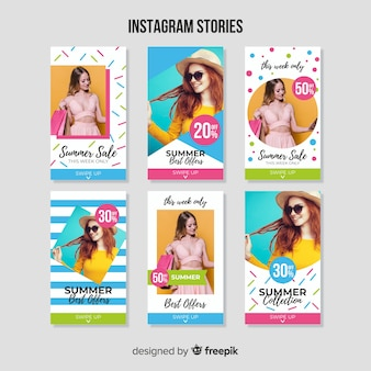 Summer sale instagram stories template