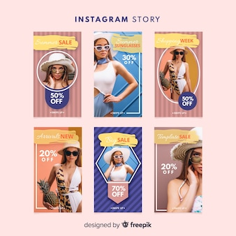 Summer sale instagram stories template