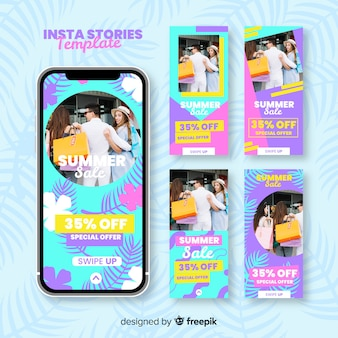 Summer sale instagram stories templates