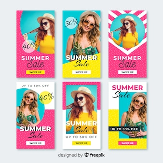Summer sale instagram stories templates