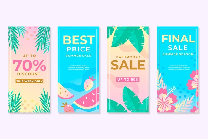 Summer sale instagram story collection