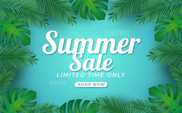 Summer sale  layout banners voucher discount template