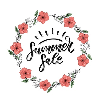 Summer sale lettering, banner template