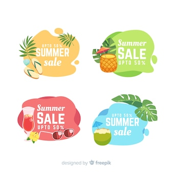Summer sale liquid banners template