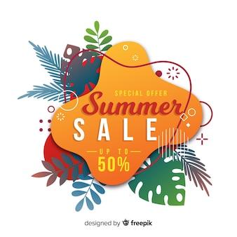 Summer sale liquid banners