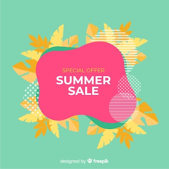 Summer sale liquid banners