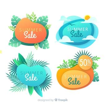 Summer sale liquid shape banners