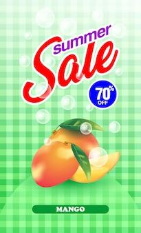 Summer sale mango fruit banner