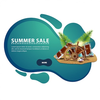 Summer sale, modern creative discount web banner for your website