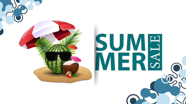 Summer sale, modern design of a discount banner for your site