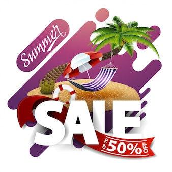 Summer sale, modern discount banner for your business