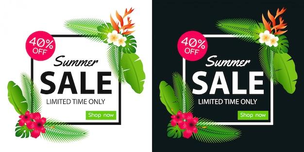Summer sale offer banner