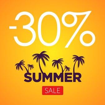 Summer sale orange banner