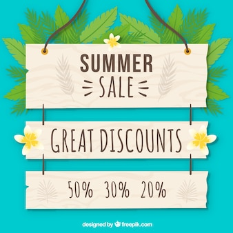 Summer sale poster background