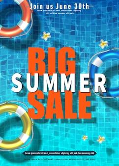 Summer sale poster vertical orientation