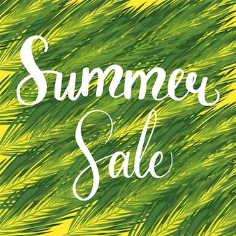 Summer sale  seasonal discount banner