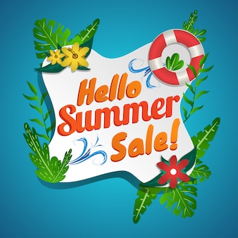 Summer sale social media banner fresh design