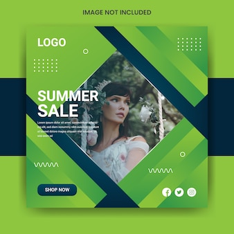 Summer sale social media post template