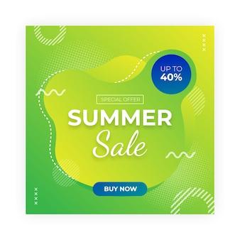 Summer sale social media post Premium Vector