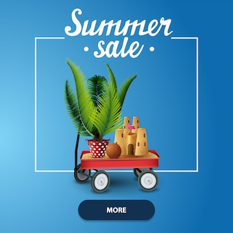 Summer sale, square web banner for your website