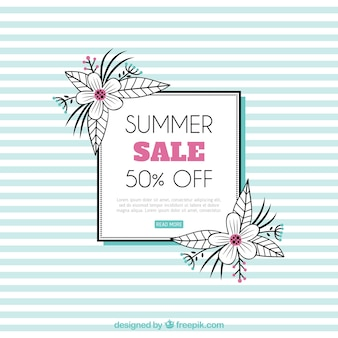 Summer sale template with lines pattern
