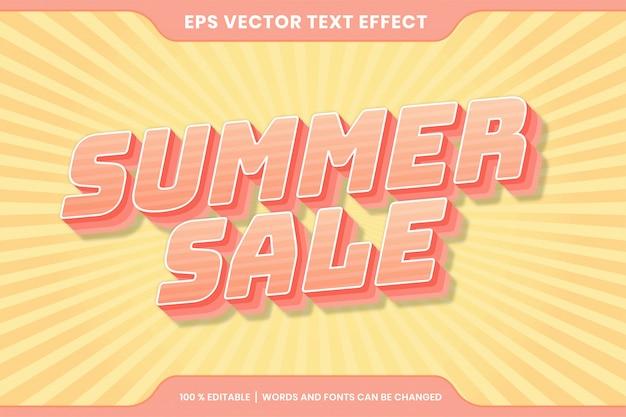 Летняя распродажа текстовый эффект редактируемый