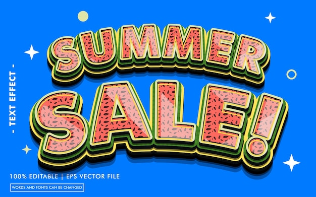 Summer sale! text effect style