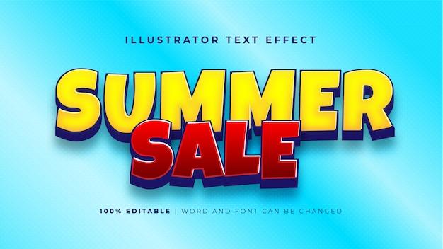 Текстовый эффект летней распродажи