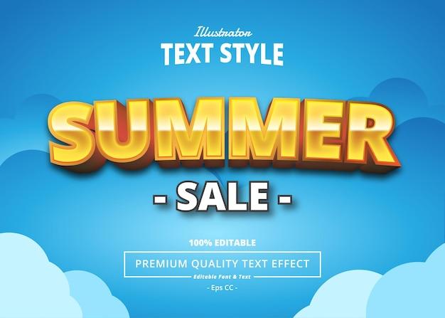Summer sale text effect