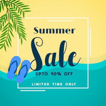 Summer sale top beach banner